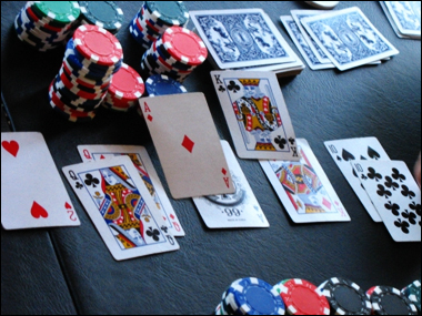 poker board aces queens
