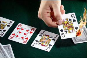 turn queen card burn carta queimando poker poquer