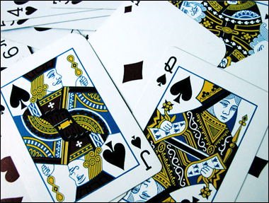 valete dama espadas poker